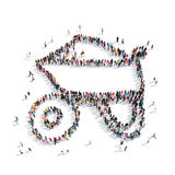 People shape  trolley building Stock Photo