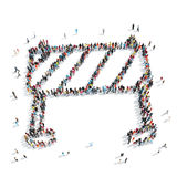 People  shapebarrier building Stock Images