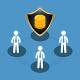People shared data center related. Illustration Royalty Free Stock Image
