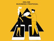 Online Business Proposal royalty free illustration