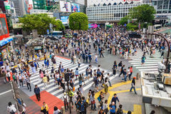 People at Shibuya crossing, Tokyo Stock Photography