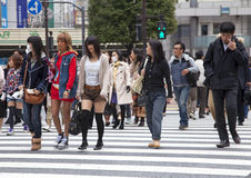 People at Shibuya Crossing in Tokyo Stock Image
