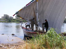 People on ship in river Nile cairo Royalty Free Stock Images