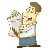 People shocked. Illustration of a person who was shocked after seeing the news Royalty Free Stock Images