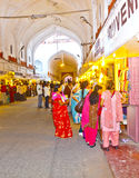 People shop inside the  Meena Stock Photography