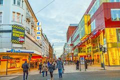 People shop in the main pedestrian Stock Photography
