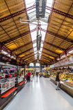 People shop in the old market hall in Colmar Royalty Free Stock Photography