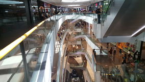 People shop in SM Aura Premier Manila on May 20, 2015 in Manila, Philippines stock video footage