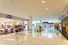 People Shop In Vienna Shopping City Luxury Mall. VIENNA, AUSTRIA - AUGUST 10, 2015: People Shop In Vienna Shopping City Luxury Mall Royalty Free Stock Photos