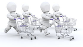 People shopping Royalty Free Stock Photography