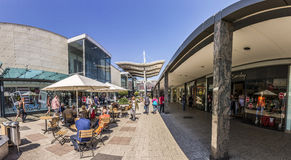 People at shopping area in Mall Main Taunus Zentrum Royalty Free Stock Photos