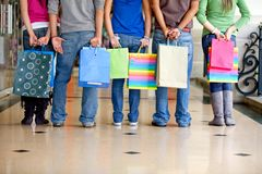 People with shopping bags Stock Photos