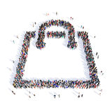 People shopping bags shape 3d Royalty Free Stock Photos
