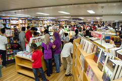 People shopping for books on the MV Logos Hope Stock Photos