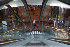 People shopping in business mall Royalty Free Stock Photography