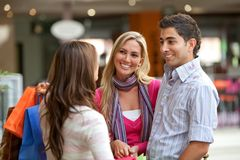 People at a shopping center Royalty Free Stock Images
