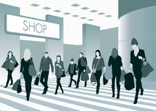 People in shopping center Stock Photos