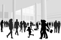 People in shopping center Royalty Free Stock Photo