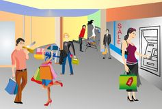People shopping Royalty Free Stock Image