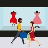 People shopping design Stock Images