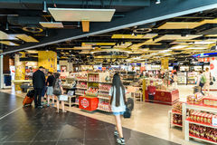 People Shopping In Duty Free Store Of Vienna International Airport Stock Photography