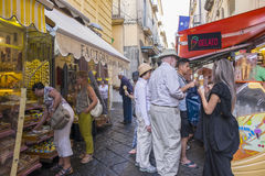 People Shopping and Eating Gelatos in Sorrento Stock Images