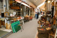 People shopping at the flea market of Clignancourt at Paris Royalty Free Stock Photos