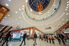 People in shopping gallery of supermall RIO Royalty Free Stock Image