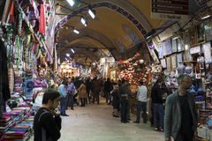 People shopping in the Grand Bazaar, Istanbul Royalty Free Stock Photo