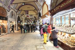 People shopping in the Grand Bazaar, Istanbul Royalty Free Stock Photography