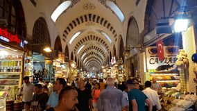People shopping at Grand Bazaar stock photo