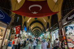 People Shopping in the Grand Bazaar in Istanbul, Turkey Stock Image