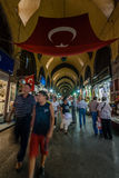 People Shopping in the Grand Bazar in Istanbul, Turkey Royalty Free Stock Photography