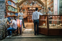 People Shopping in the Grand Bazar in Istanbul, Turkey Royalty Free Stock Photo