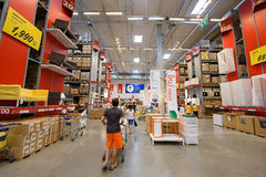 People shopping at IKEA furniture store Royalty Free Stock Image
