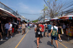 people shopping at JJ weekend market Royalty Free Stock Images