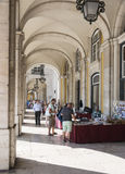 People shopping in Lisbon Stock Image