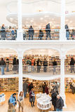 People Shopping For Literature Books In Library Mall Royalty Free Stock Image