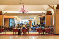 People Shopping In Luxurious Shopping Mall Royalty Free Stock Images