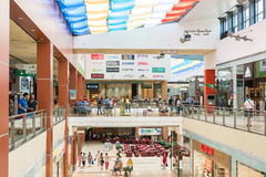 People Shopping In Luxury Mall Stock Photography