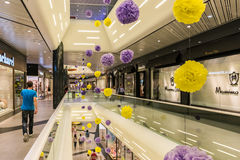 People Shopping In Luxury Shopping Mall Stock Photo