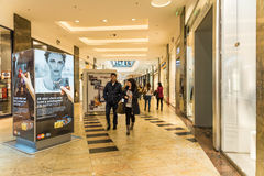 People Shopping In Luxury Shopping Mall Royalty Free Stock Image
