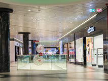 People Shopping In Luxury Shopping Mall Interior Stock Images