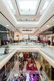 People Shopping In Luxury Shopping Mall Interior Stock Photo