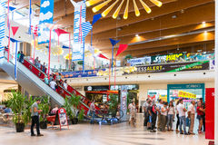 People Shopping In Luxury Shopping Mall Royalty Free Stock Photography