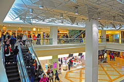 People at shopping mall hong kong Royalty Free Stock Photography