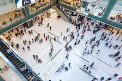 People at a shopping mall in Hong Kong Royalty Free Stock Photo