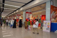 People in the Shopping Mall. Shopping at Hyperstar Emporium Mall, Lahore, Pakistan Royalty Free Stock Photo