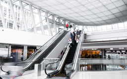 People in shopping mall Stock Photo