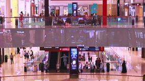 People in shopping mall stock video